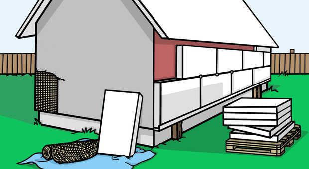 Sehr Fassade selber dämmen - Die perfekte Anleitung in 7 Schritten EC63